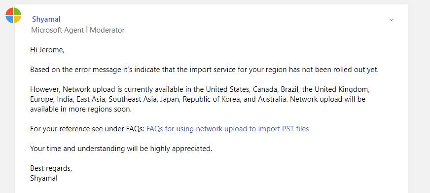 Microsoft Reply