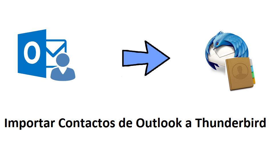 Importar Contactos de Outlook a Thunderbird