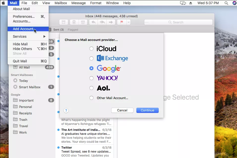 How to Sync / Import Gmail folders with Apple Mail into Mac