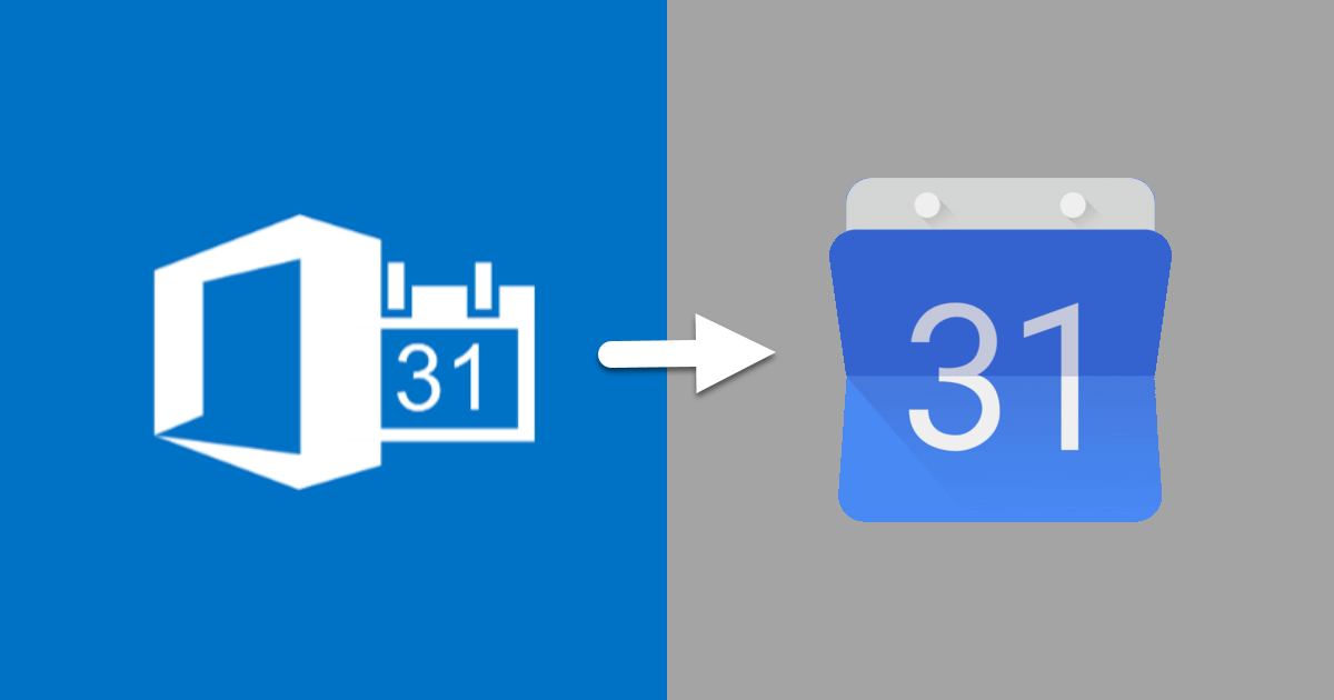 Export Office 365 Calendar to Google Calendar via GWA