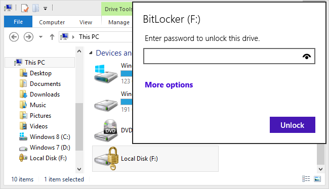 How to Open Bitlocker VHD Using Control Panel & Recovery Key