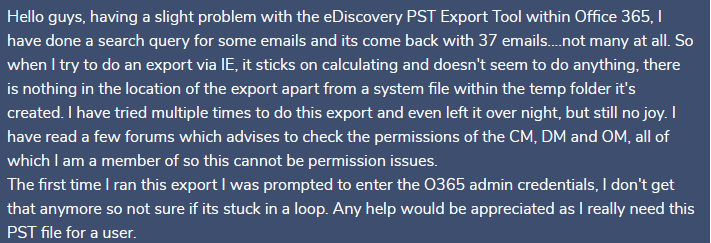 export office 365 archive to pst