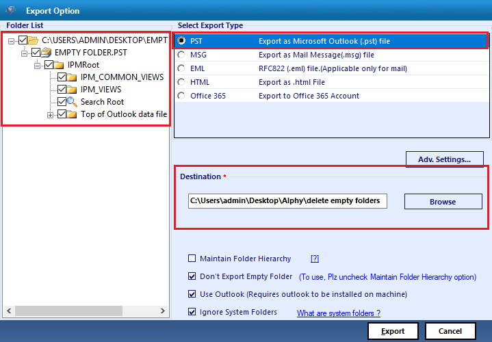 How to Delete Empty Folders in Outlook PST - Remove Empty