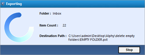 remove empty folder in pst
