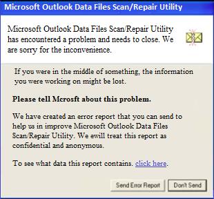 scanpst error