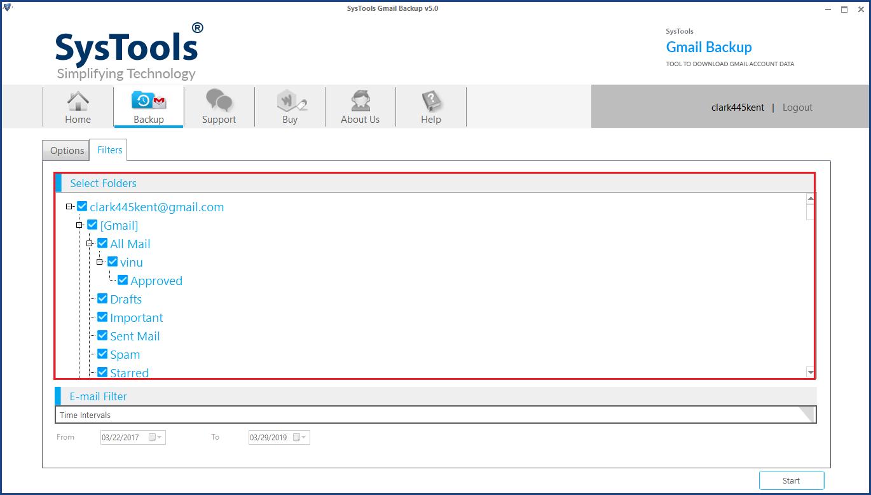 Select Gmail Folder