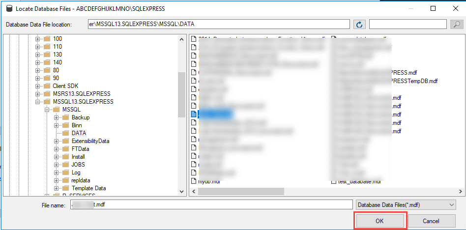 Restore MDF File