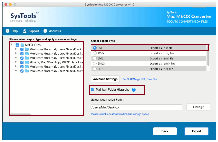 select outlook pst
