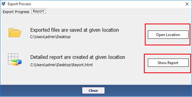 output file and report