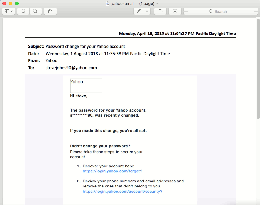 Open Outlook emails in PDF format