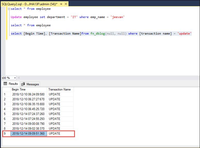 read transaction log file sql server