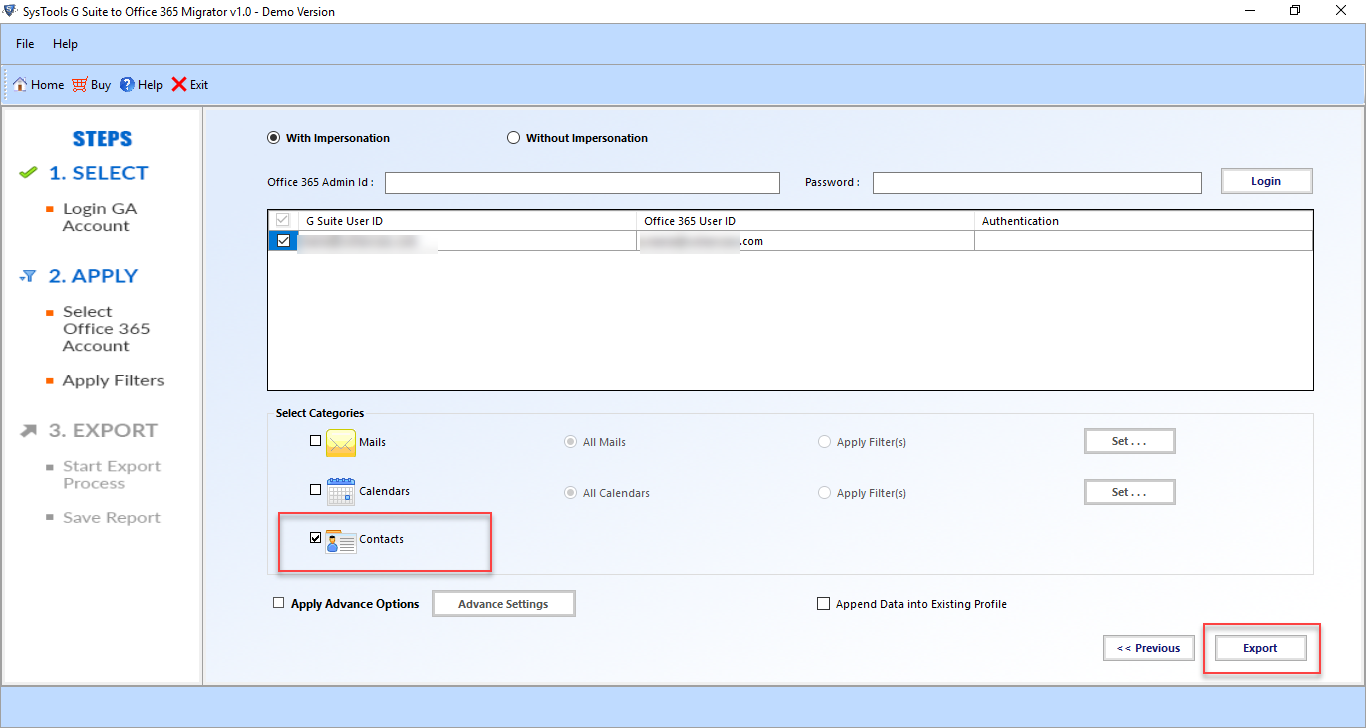 migrate contacts from Gmail to Office 365