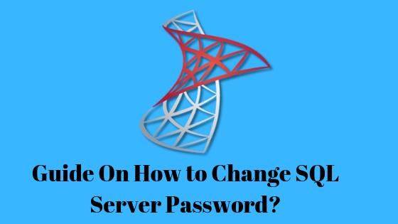 Change SQL Server password for SA
