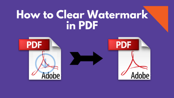 how to clear watermark in pdf