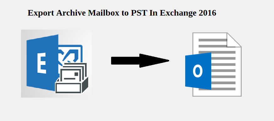 export archive mailbox to pst exchange 2016