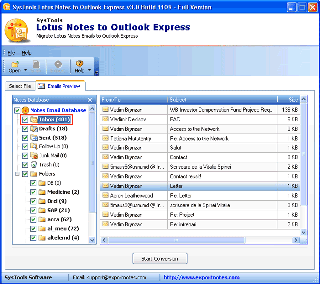 Lotus Notes To Outlook Express Converter Perform Nsf To Eml