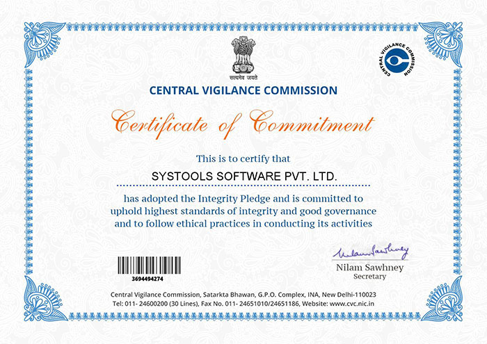 SysTools Certified