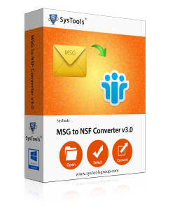 SysTools MSG to Lotus Notes NSF Converter