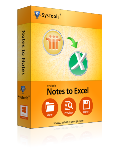 notes to excel Box