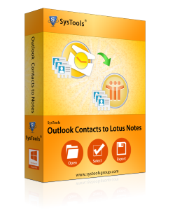 Outlook contacts to lotus note Box