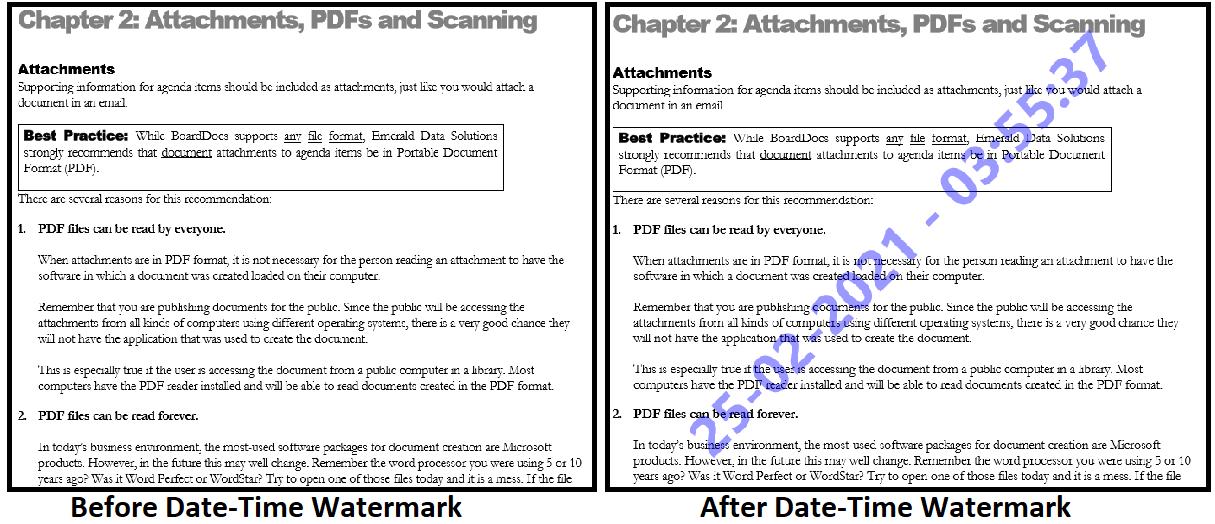 PDF Watermark Adder to insert text watermark in multiple pdf files