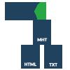 pfc to html, txt, mht
