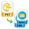 convert pst to msg or eml
