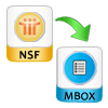 export nsf file to mbox