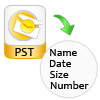 show pst file with attributes