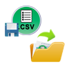 save and open csv file