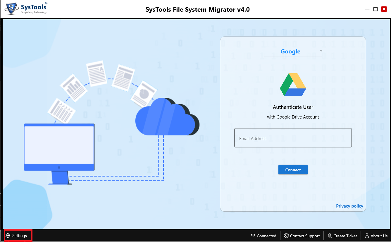 pc to google drive migrator