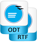 save recovered odt file