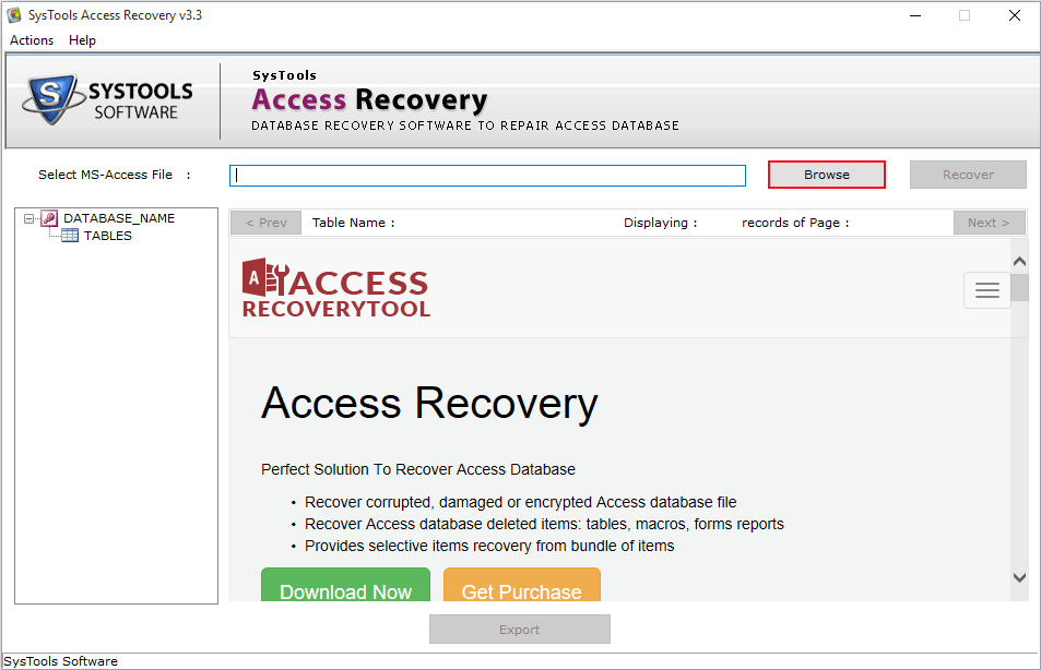 restore access database