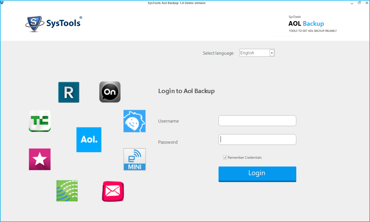 Login to Aol Backup Tool