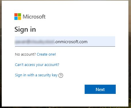 Microsoft sign in