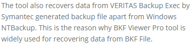 recover data from VERITAS backup Exec