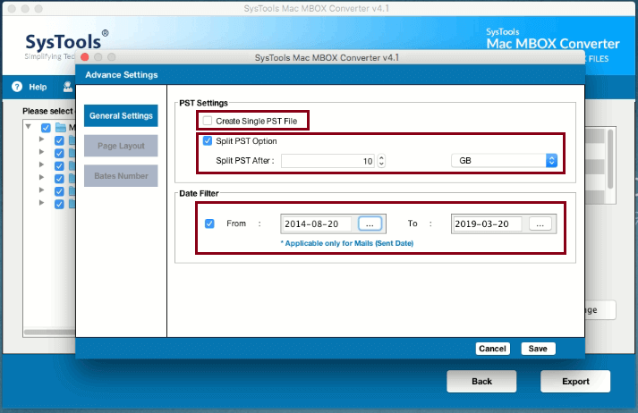 manage evolution files in outlook