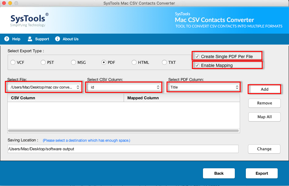 how to convert csv file to pdf