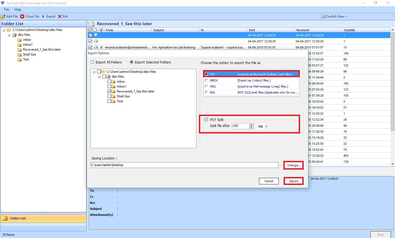 dbx to pst converter full version crack