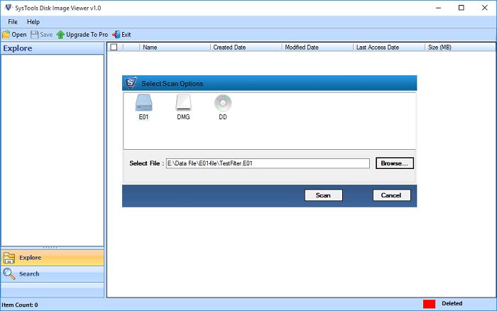 Add disk image file