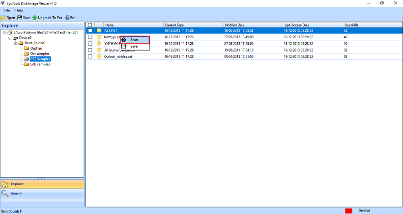 Open and Read Disk Image Files