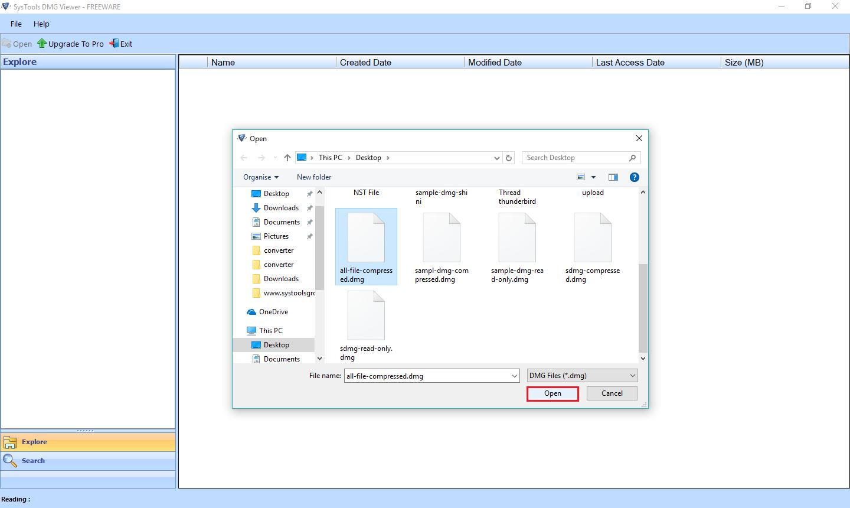 Добавить файл данных DMG