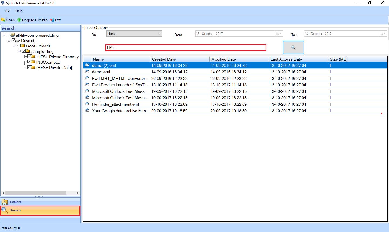 Искать файлы DMG