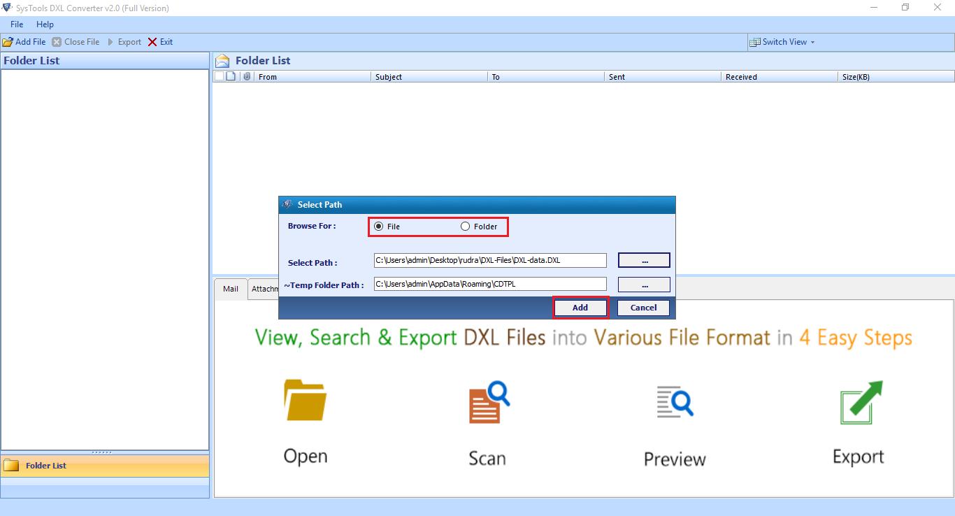 file & Folder Mode