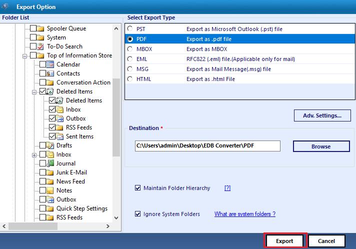 edb to pdf conversion software