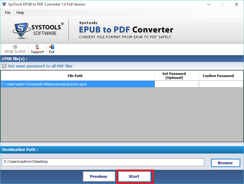 export epub into pdf