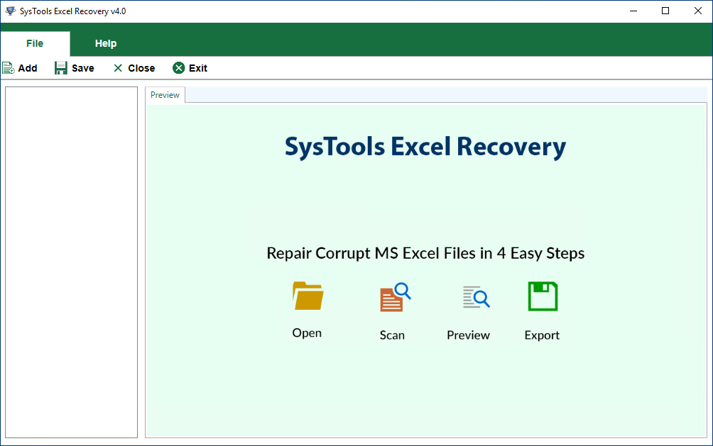 XLSX Worksbook Recovery software