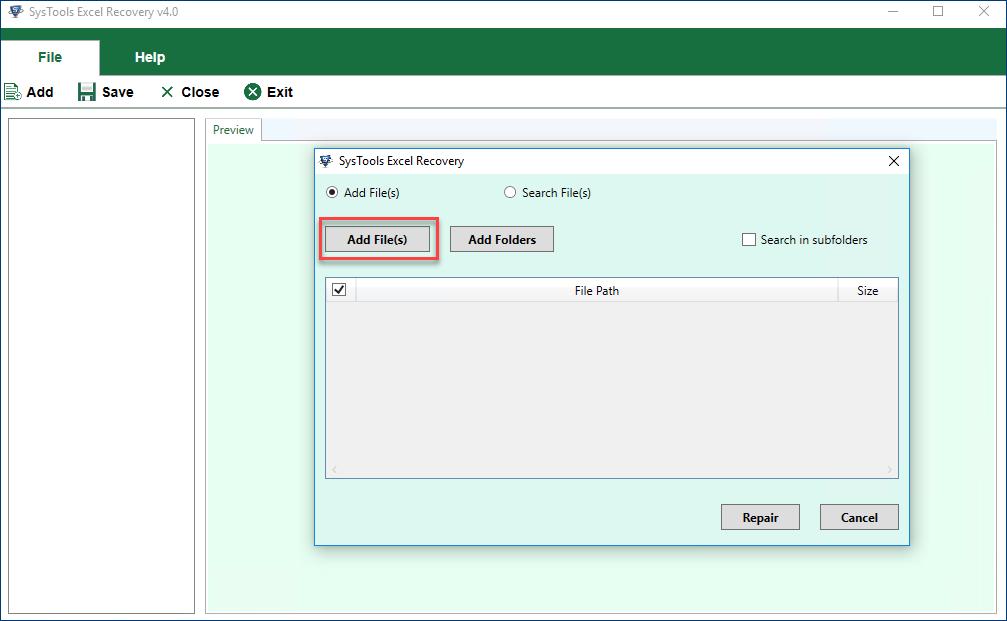 Выберите 3 варианта: Добавить файл, Добавить папку и поиск F