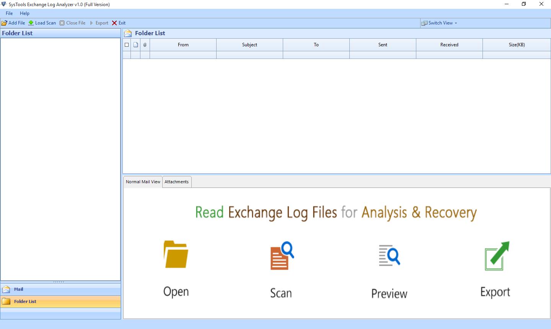Run Exchange log analyzer