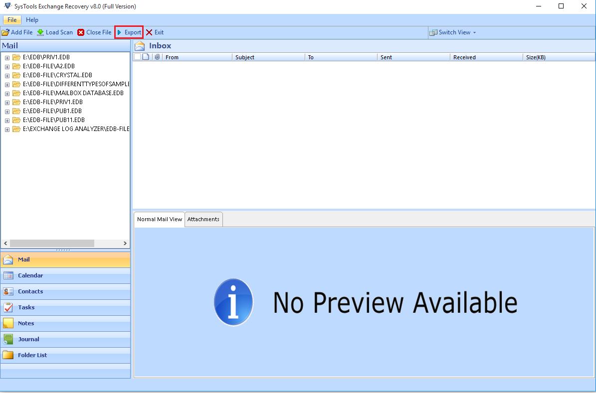 Microsoft EDB to PST converter